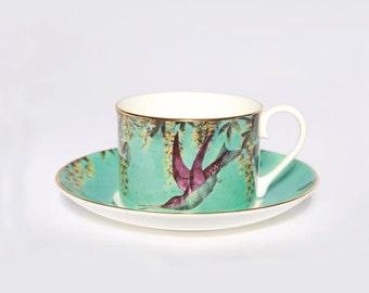 Hummingbird Teacup - Bird Teacup - Bird Gift - English Tea - Teaset