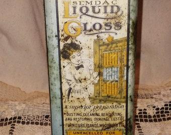 Old, antique furniture polish tin.