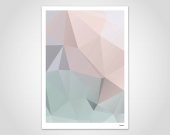 Pastel 2 - modern poster, abstract art prints, modern wall art print, pastel, graphics design, geometric, minimalistic, low poly