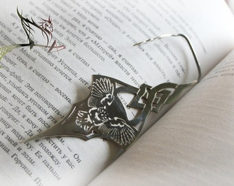 "Bookmark for books ""Owl"" - jewelry art, handicraft, Hand made"