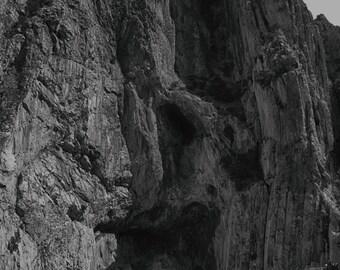Rock Mountain photography print. Wall Art Decor