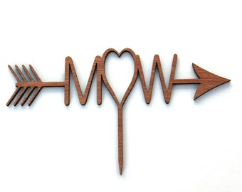 Woodlands Wooden Personalised Cake Topper Rustic Natural
