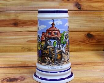 "Beer Stein German Renaissance 8"" Tall.  Box 63"