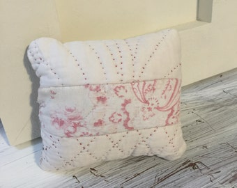 Vintage quilted lavender pillow