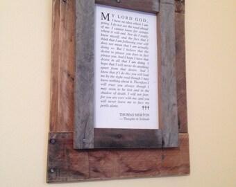 Handmade Reclaimed Wood Frame