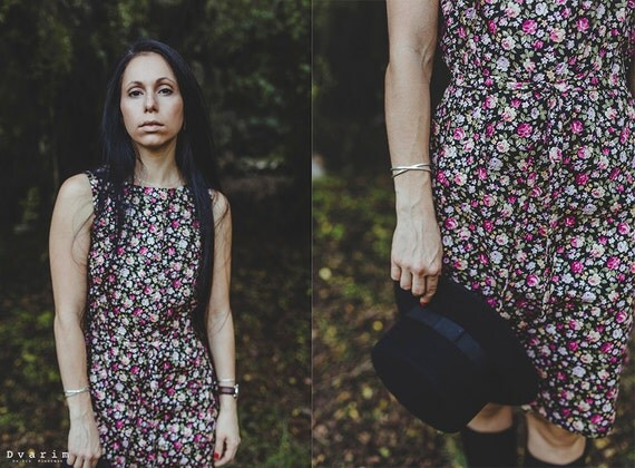 Midi Floral Dress - sleeveless dress - floral printed dress- midi dress