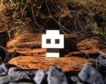 Halloween Skull Pixelpin Brooch