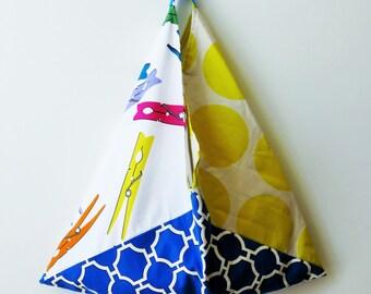 original beach bag, summer bag, cotton bag, shopping market bag, colorful bag, summer gifts for her, origami bento bag, large tote bag