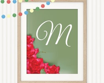 Printable Personalized Print - Whats in a Name - Monogramed Print