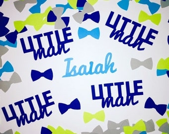 Little Man Baby Shower Personalized Confetti - Bow Ties and Name Confetti - 350 pieces