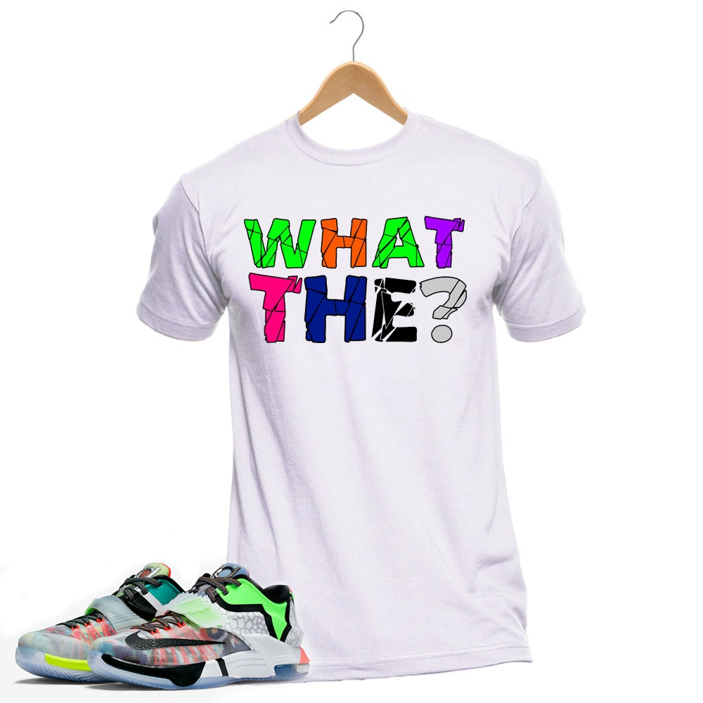 Brand New Custom Sneaker Tshirt to match the KD WHAT THE 7 What The Kd Shirt