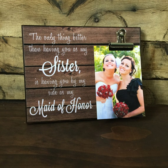 Maid Of Honor Gift Wedding Thank You The Only Thing Better