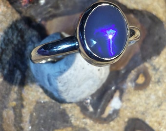 Lightning ridge black opal size us 9