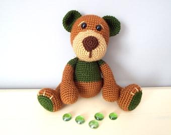 Crochet Bear amigurumi dolls stuffed animal by ...