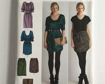 Simplicity Sewing Pattern 2305 Cynthia Rowley P5 sizes 12, 14, 16, 18, 20 - Skirt, Tunic, Dress, Clutch - UNCUT