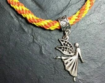 Kumihimo Friendship Bracelet With Angel/Fairy Charm