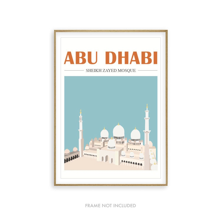 Mosque Illustration Abu Dhabi Islamic Home Decor Islamic