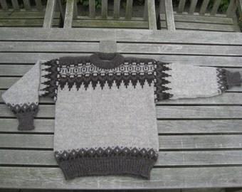 Faroe Islands SNÆLDAN FÄRÖARNA Scandinavian Vintage Sweater  - Lovely with Nordic Folk Pattern - Faroe Islands Scandinavian Textile