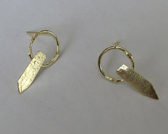 18k gold earrings, small hoop earrings