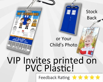 Doctor Who Invitation PLASTIC Doctor Who, Doctor Who Invitation, Birthday Invitation, Birthday Invite, Doctor Who Birthday SKU-INV085