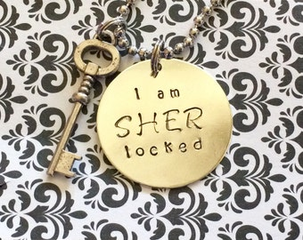 Sherlock I am Sherlocked necklace