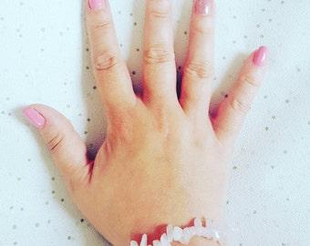 Rose Quartz crystal bracelet Rose quartz crystal