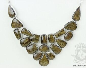 Earthy Tone! Brazilian Bronzite 925 Solid Sterling Silver Necklace  n454