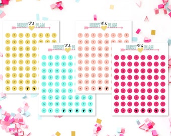 1/4 Inch number stickers
