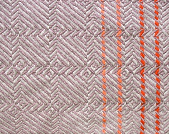 Light Purple Geometric Pattern Psychedelic Handwoven Textile Blanket