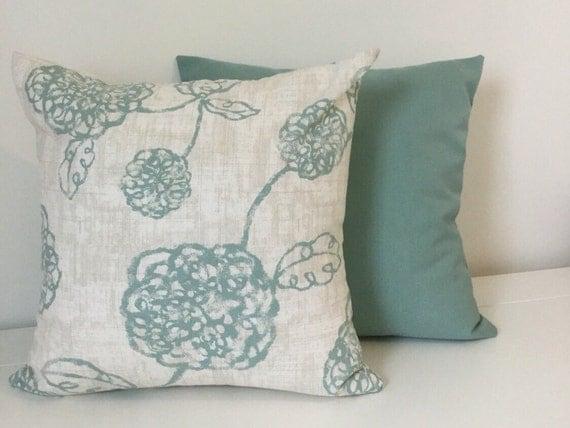 Floral Teal Pillow cover Teal Floral Pillow Throw pillows
