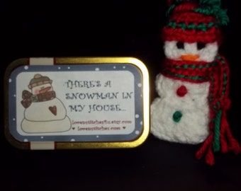 HOLIDAY 2017 SALE!! This Altoids Tin Playset - There is a Snowman in My House.