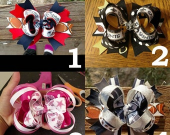 New! NFL Football Teams Hairbows!