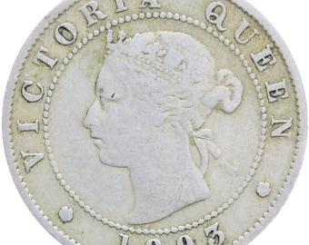 Queen Victoria Jamaica 1893 Half Penny Coin