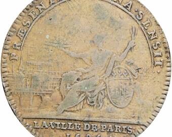 1695 France Louis XIV Token Sensit La Ville de Paris