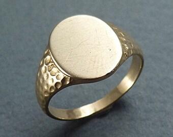 14k signet ring size 5