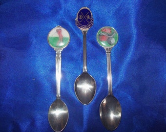 3 Silver Plated Golf Spoons