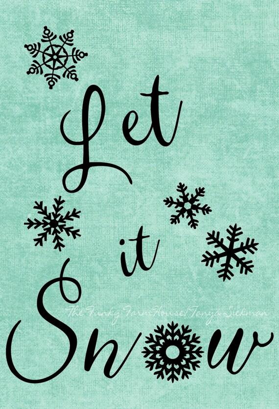 SVG, DXF & PNG  - Let it Snow