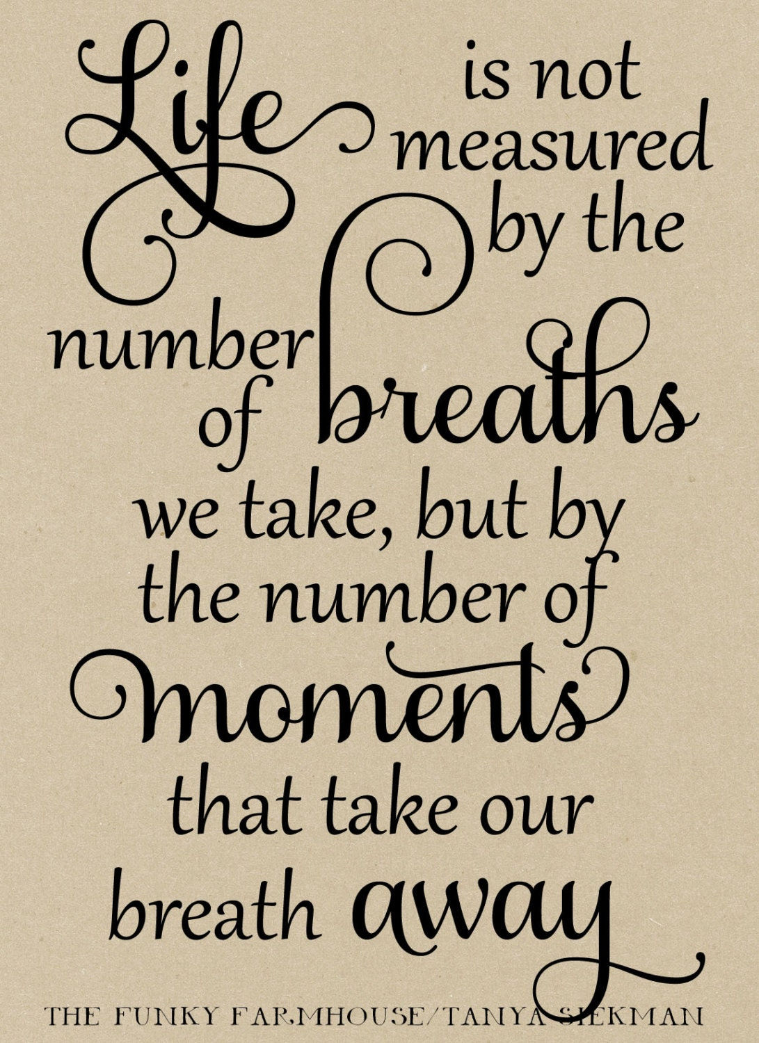 Life Is Not Measured Quote Svg Dxf & Png  Life Is Not Measuredthe Number Of Breaths We