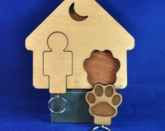 A Mans Best Friend Keyring's with Holder (Others Available - See other Store Items )
