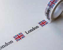 London washi tape,  Union Jack Flag/ London Travel  Planner Scrapbooking tape