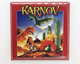 """Karnov Custom Made 1.5 inch x 1 1/2"""" Square Magnet"""