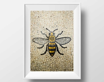 Manchester Bee / Worker Bee / Mancunian / Mosaic / Bee / Industry / Art / Wall Art