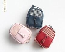 Vintage Backpack Bag for Blythe Pullip Azone Poppy Fashion Royalty 1/6 BJD