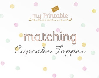 Matching Cupcake Toppers for your Invite