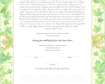 Maple Leaf Marriage Certificate