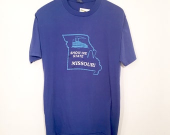 Vintage 80s Missouri Show-Me State Shirt Large
