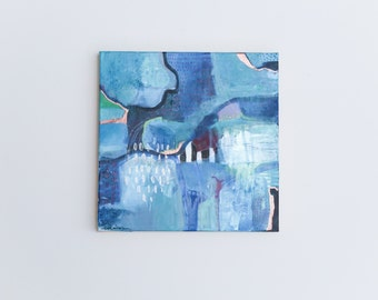 "original abstract painting on 12 x 12"" canvas"