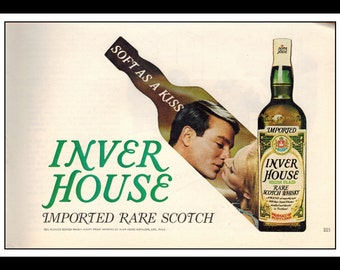 """Vintage Print Ad May 1969 : Inver Hour Imported Rare Scotch Whisky Advertisement Wall Art Decor Color 5.5"""" x 8.5"""""""
