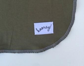 Hunter Green Swaddling Blanket