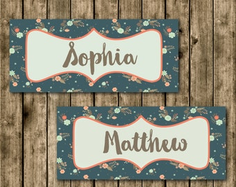 Navy Place Cards
